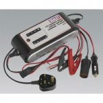 Sealey SMC04 Compact Auto Digital Battery Charger – 9-Cycle 12V