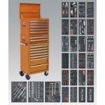 Sealey SPTOCOMBO1 Tool Chest Combi 14 Drawer BB Runners Orange & 1…