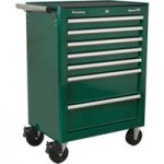 Sealey AP26479TBRG Rollcab 7 Drawer with Ball Bearing Runners – Green
