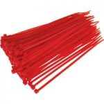 Sealey CT20048P100R Cable Ties 200 x 4.8mm Red Pack Of 100