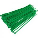 Sealey CT20048P100G Cable Ties 200 x 4.8mm Green Pack Of 100