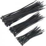 Sealey CT75B Cable Ties Assorted Black Pack Of 75