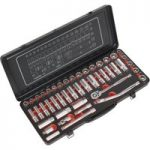 Sealey AK692P Socket Set 45pc 3/8″Sq Drive 6pt WallDrive®