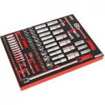 Sealey TBTP01 Tool Tray with Socket Set 79pc 1/4in & 1/2in Sq Drive