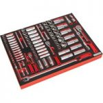 Sealey TBTP02 Tool Tray with Socket Set 91pc 1/4in & 3/8in & 1/2in…