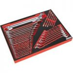 Sealey TBTP03 Tool Tray with Spanner Set 35pc