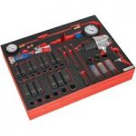Sealey TBTP08 Tool Tray with Impact Wrench, Sockets & Tyre Tool Se…