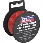 Sealey AC1704R Automotive Cable 17A 4mtr Red