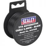 Sealey AC2725B Automotive Cable 27A 2.5mtr Black