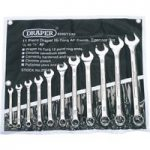 Draper 29546 11 Piece Imperial Combination Spanner Set