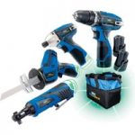 Draper 52023 Storm Force 10.8V Drill 4 Pack +3 Batteries and Bag -…