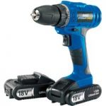 Draper 14600 Storm Force Cordless Drill with Two Li-ion Batteries 18V