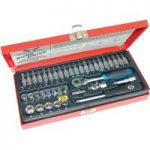 CK Tools T4655 Sure Drive 39 Piece Socket Set 1/4″ Drive