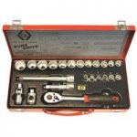 CK Tools T4656 Sure Drive 23 Piece Socket Set 3/8″ Drive