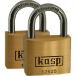 Kasp K12525D2 Premium Brass Padlock – 25mm – Twin