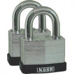 Kasp K13050D2 Laminated Steel Padlock – 50mm – Twin