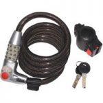 Kasp K750L180 Illuminated Combination Coil Cable Bike Lock 12 x 1800mm